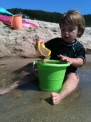 Making sand castles at Elberta Beach, Michigan - Summer 2012 Bucket List