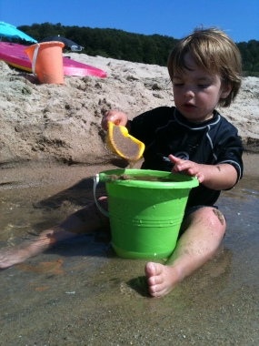 Making sand castles at Elberta Beach, Michigan - Summer 2012 Bucket List