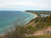 Sleeping Bear Dunes National Lakeshore, overlooking Lake Michigan
