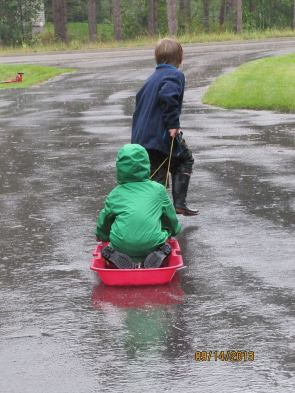 Such an innocent pleasure: playing in the rain